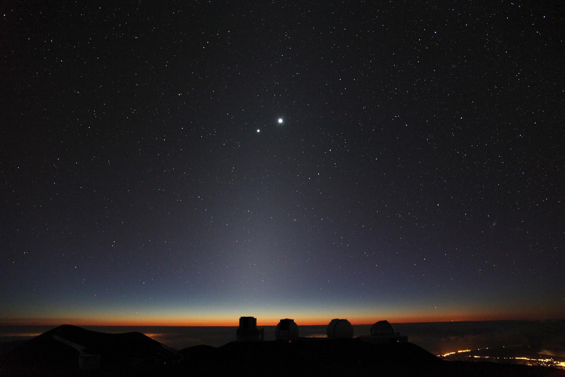 Close Planetary Encounter Seen above Mauna Kea Figure