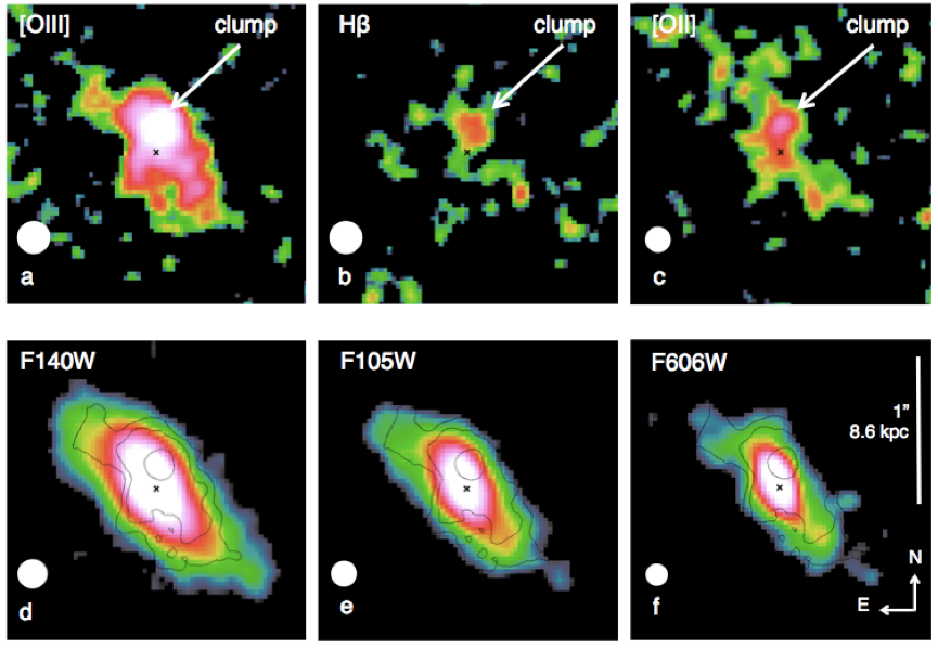 Discovery of an Extremely Young Stellar Clump in the Distant Universe Figure1