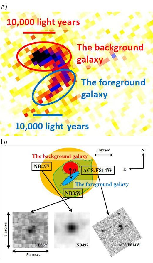 Gravitational Lensing in the Peculiar 'Magatama' Galaxy Figure2
