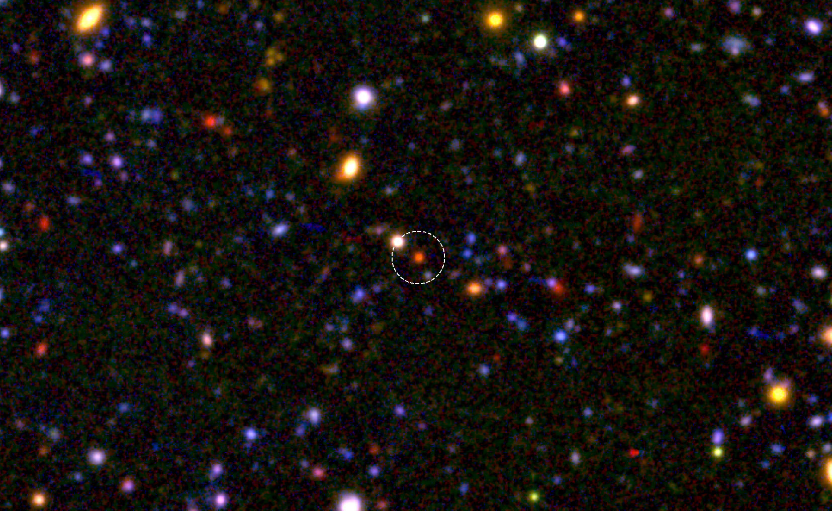 The 'Cores' of Massive Galaxies Had Already Formed 1.5 Billion Years after the Big Bang Figure1