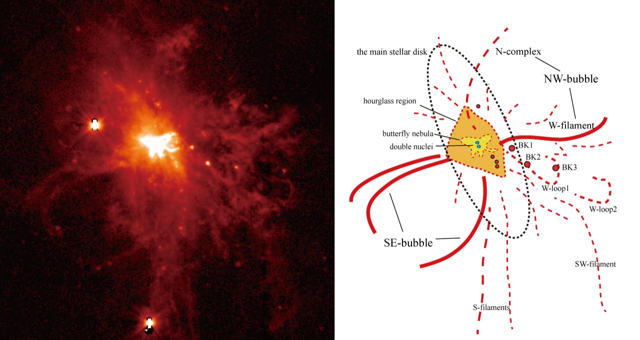 A Violent Wind Blown from the Heart of a Galaxy Tells the Tale of a Merger Figure3