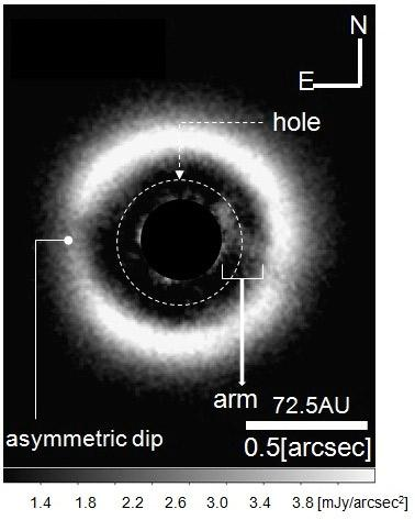 Direct Infrared Image of an Arm in Disk Demonstrates Transition to Planet Formation Figure1