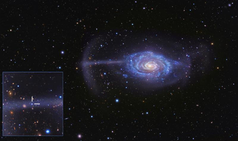 Umbrella Galaxy's Merger Models the Cosmic Food Chain Figure1