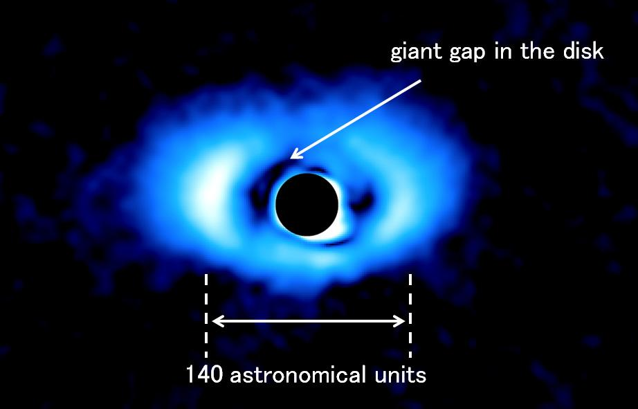 Discovery of a Giant Gap in the Disk of a Sun-like Star May Indicate Multiple Planets Figure2