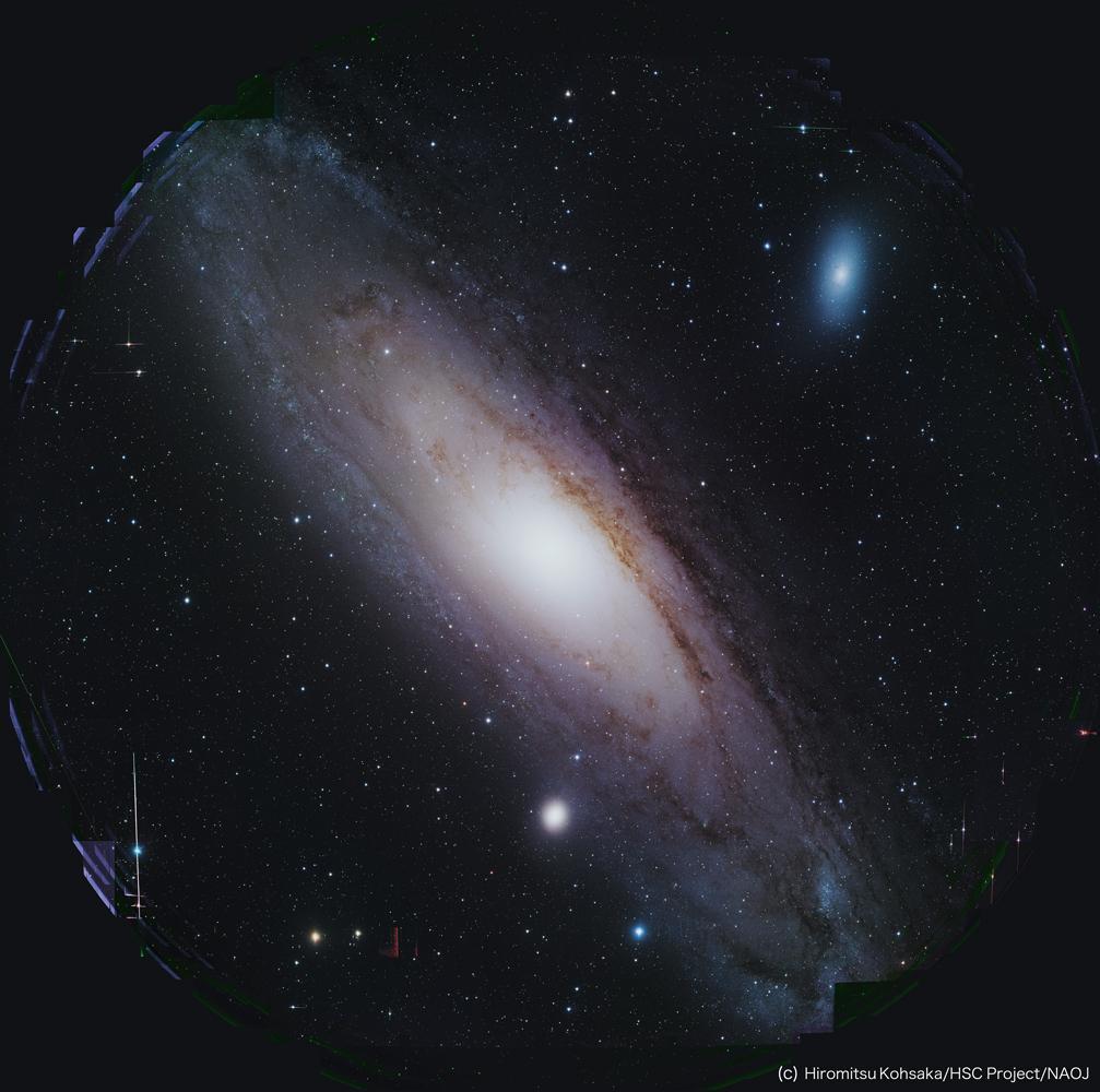 天体写真家・上坂さん、HSC によるアンドロメダ銀河画像の美を追求 図