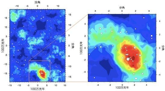 宇宙ライター林公代の視点 (5) : 原始銀河団を探す 図
