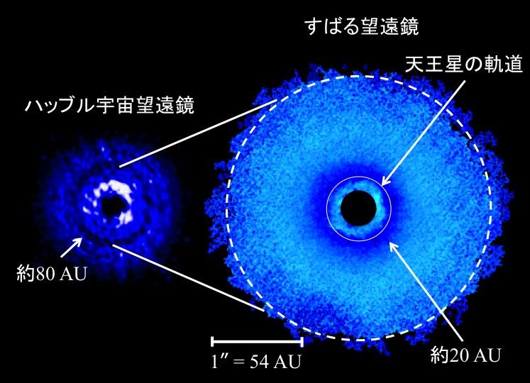 原始惑星系円盤における多重リングギャップ構造の発見 図
