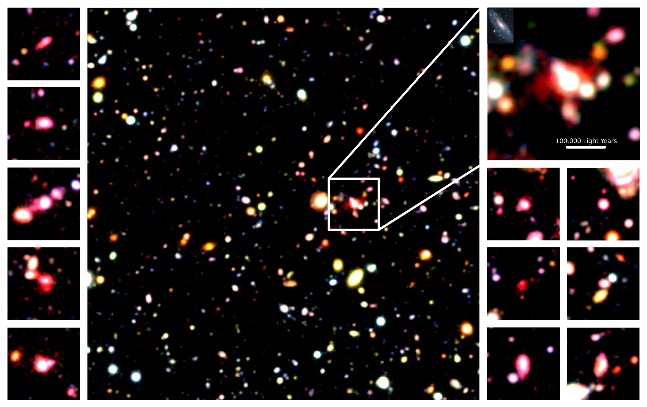Discovery of Hot Oxygen Gas Streaming Away from Distant Galaxies: Witnessing the Final Stage of Galaxy Buildup Figure1